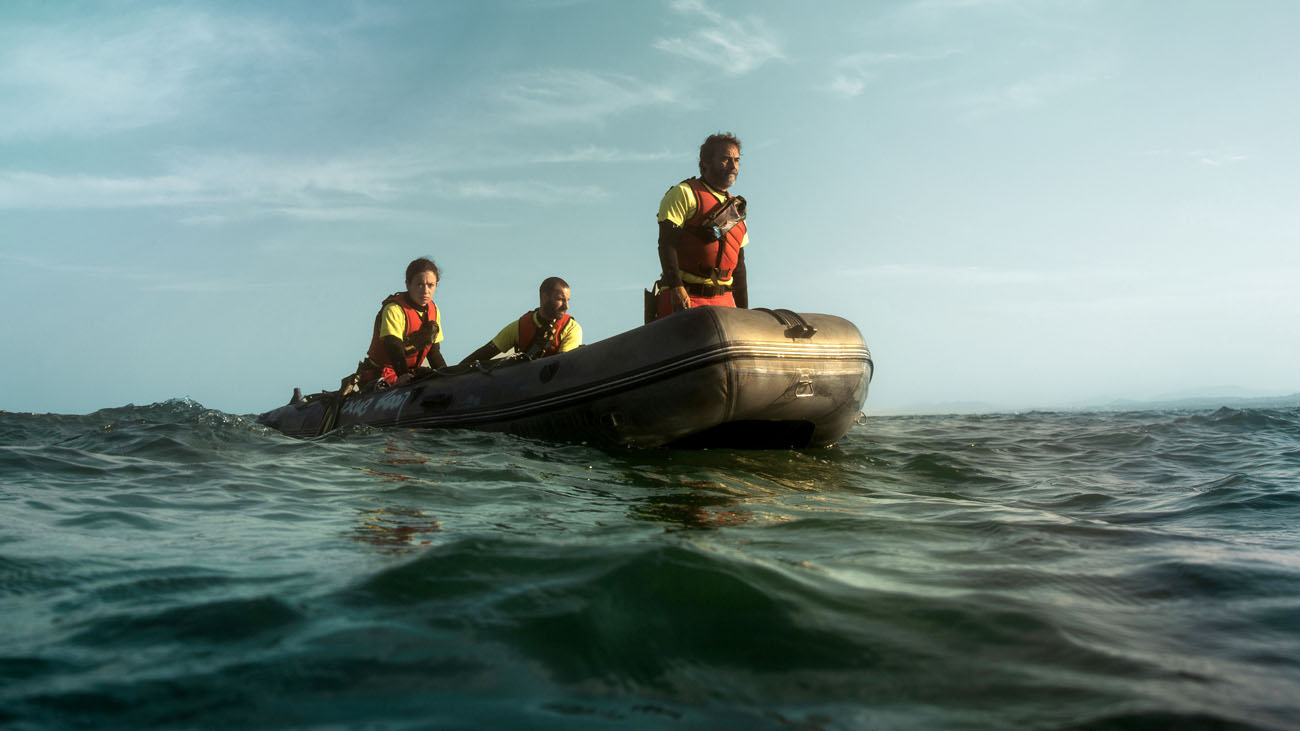 Rescue team on the water