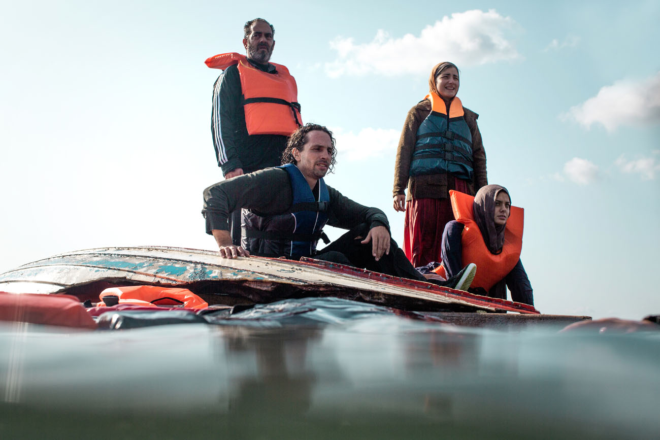 Refugees drifting in the mediterranean
